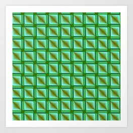 abstract pattern in metal Art Print