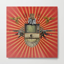 The Revolution Will Not Be Televised! Metal Print