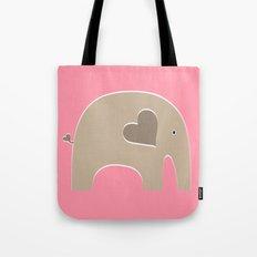 Pink Safari Elephant Tote Bag