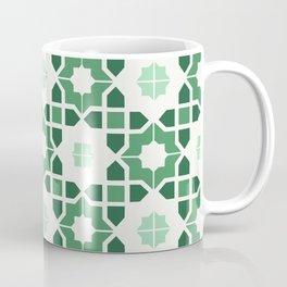 Morrocan tiles in green Coffee Mug