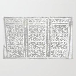 White Iron Gate Rug