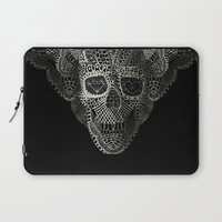 3d Laptop Sleeves featuring Lace Skull by Ali GULEC