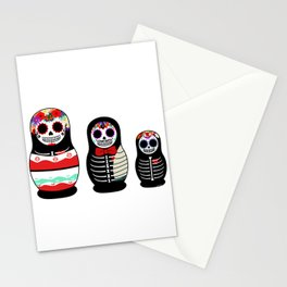 Halloween Russian dolls Stationery Cards