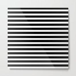 Stripes - Black + White Metal Print