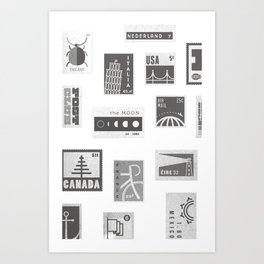 USA, Canada, London, The Moon Art Print