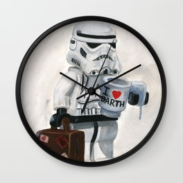 Lego I Love Darth Wall Clock