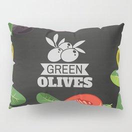 Olives retro poster #7 Pillow Sham