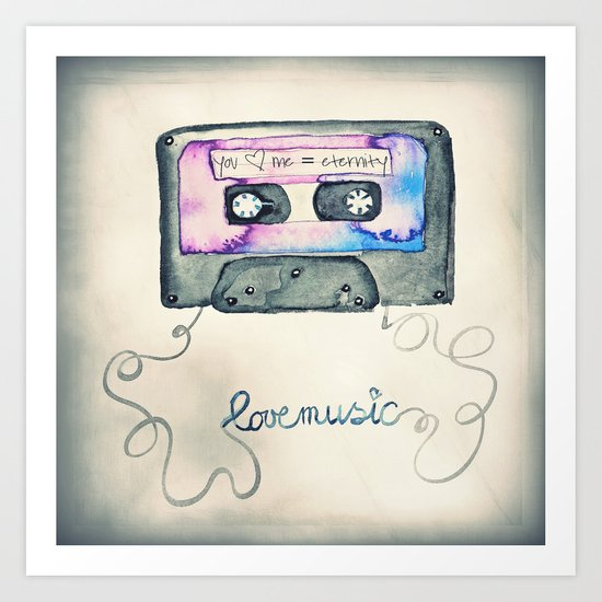 Mix Tape Art Print