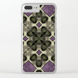 Victorian Art Deco Medieval Pattern SB41 Clear iPhone Case