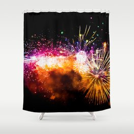 Fireworks Display Addison Texas Kaboom Town 2017 Shower Curtain