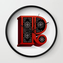 The Letter R Wall Clock