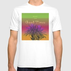 Enjoy The Good Times MEDIUM White Mens Fitted Tee