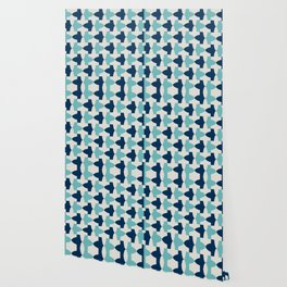 Alhambra Motif Blue Palette Wallpaper