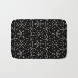 Antique Black and Gold Pattern Design Bath Mat