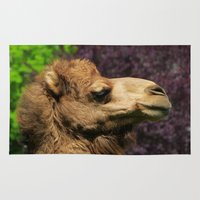 camel Area & Throw Rugs featuring MM - Camel by Pirmin Nohr