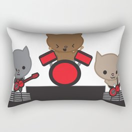 Kitty Cat Kawaii Band Rectangular Pillow