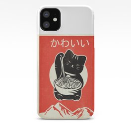Vintage Kawaii Cat Anime graphic Gift Retro Japanese Style iPhone Case