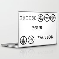 divergent Laptop & iPad Skins featuring Divergent - Choose your faction by Lunil