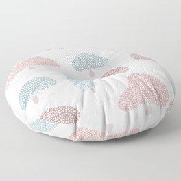 Pastel mushroom trees Floor Pillow
