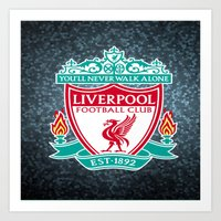 liverpool Art Prints featuring LIVERPOOL by Acus