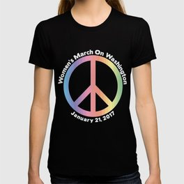 Women's March On Washington Peace Sign T-shirt