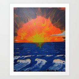 Ocean Sunset 3 Art Print