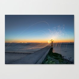 Low Tide Spinning Canvas Print