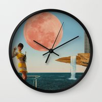 sailing Wall Clocks featuring Sailing by Liall Linz