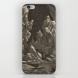Camille Flammarion - Astronomie populaire  Black And White Magical Space Crystal Fantasy Landscape iPhone Skin