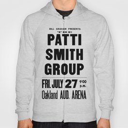The Patti Smith Group Concert Poster 1979 Hoody