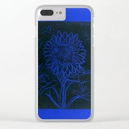 Sunflower Printwork Clear iPhone Case