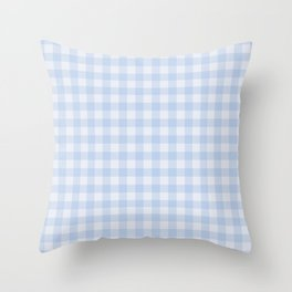 Gingham Pattern - Blue Throw Pillow