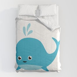 Cute Baby Whale Comforters