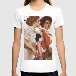 12,000pixel-500dpi - Joseph Christian Leyendecker - Maidens Playing Golf And Tennis T-shirt