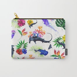 tropical shark pattern Carry-All Pouch