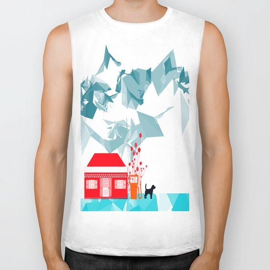 Gas station and the dog Biker Tank