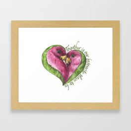 Together is our favourite place to be Framed Art Print