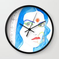 bride Wall Clocks featuring Bride by Rashmi Dagwar
