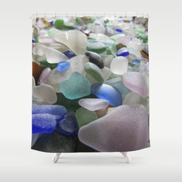 Sea Glass Assortment 6 Shower Curtain