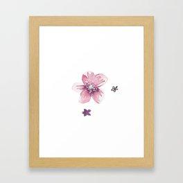 Lilac Pink Watercolour Fiordland Flower Framed Art Print
