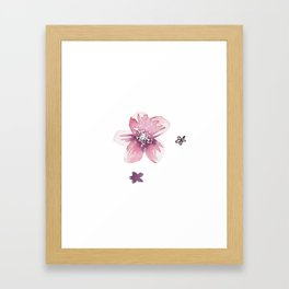 Lilac Pink Watercolour Fiordland Flower Framed Art Print