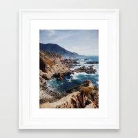 big sur Framed Art Prints featuring Big Sur by Dan Grady