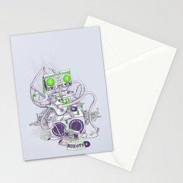 Hippy robot Stationery Cards