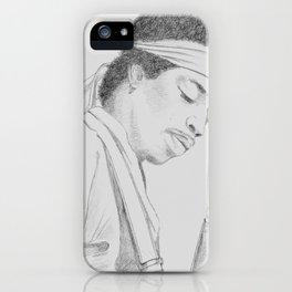 Hendrix print iPhone Case
