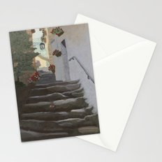 Italian Street and Stairs  Stationery Cards