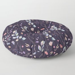 Watercolor natural pattern with twigs Floor Pillow
