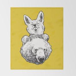 foxbear Throw Blanket