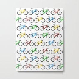 Road Bike Pattern Metal Print