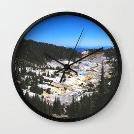 Bumpass Hell Pass Lassen Volcanic National Park Wall Clock