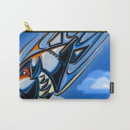 Retro Bomb Falling Carry-All Pouch